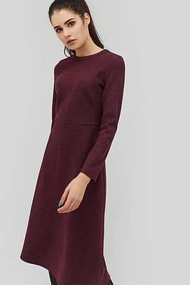 (XS, S, M, L) Зручне бордове повсякденне плаття-міді Texi