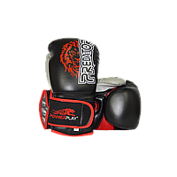 Боксерські рукавиці PowerPlay 3006 Чорні PU 14 oz, фото 1