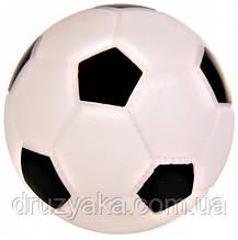 """Игрушка для собак """"Мяч футбольный"""" винил, 10 см"""