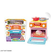 Газ.плита курица в духовке меняет цвет, свет-звук,посудка, в кор. 22*12,5*25см /24-2/(XS-18067-1)