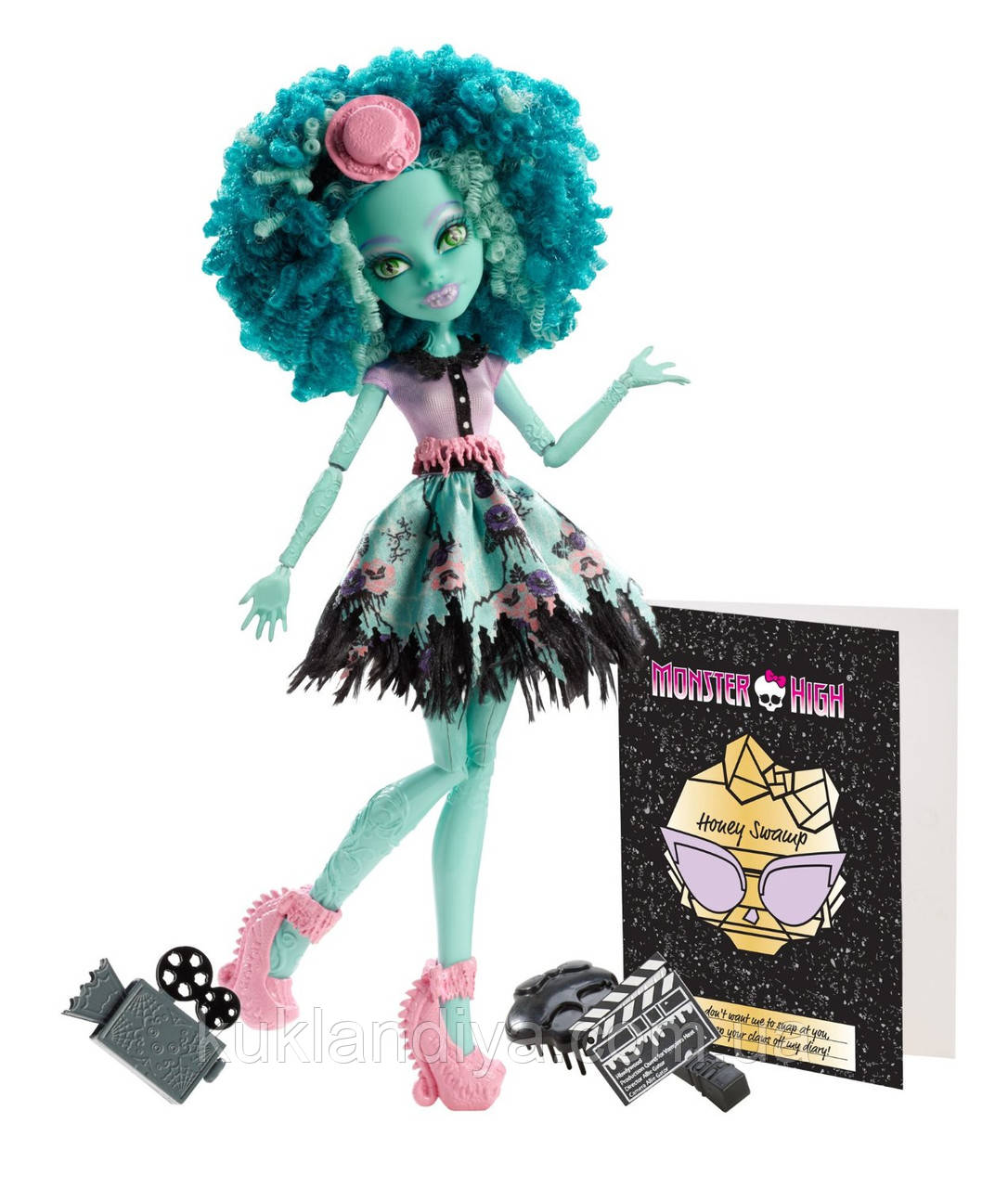 Кукла Monster High Ханни Свомп - Frights, Camera, Action! Honey Swamp