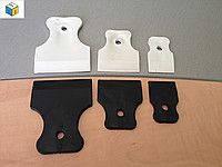 Комплект (набор) шпателей резиновых  3 шт: 40 мм, 60 мм, 80 мм ПВХ
