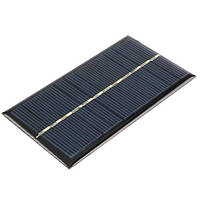 Солнечная панель 6В 1Вт батарея солнечная Arduino 110x60x3 мм