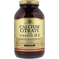 Solgar Цитрат кальция с витамином D3, 240 таблеток