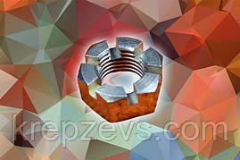 Гайка М6 DIN 937 оцинкованная