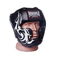 Шолом боксерський тренувальний PowerPlay 3043 Чорний PU XL, фото 1