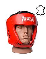 Шолом боксерський турнірний PowerPlay 3049 Червоний [натуральна шкіра] M, фото 1