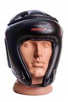 Шолом боксерський турнірний PowerPlay 3045 Чорний PU XL