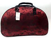Женская дорожная сумка текстильная Красная
