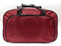 Дорожная женская сумка текстиль Красная