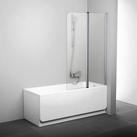 Штора для ванны двухэлементная CVS2 99 см Ravak