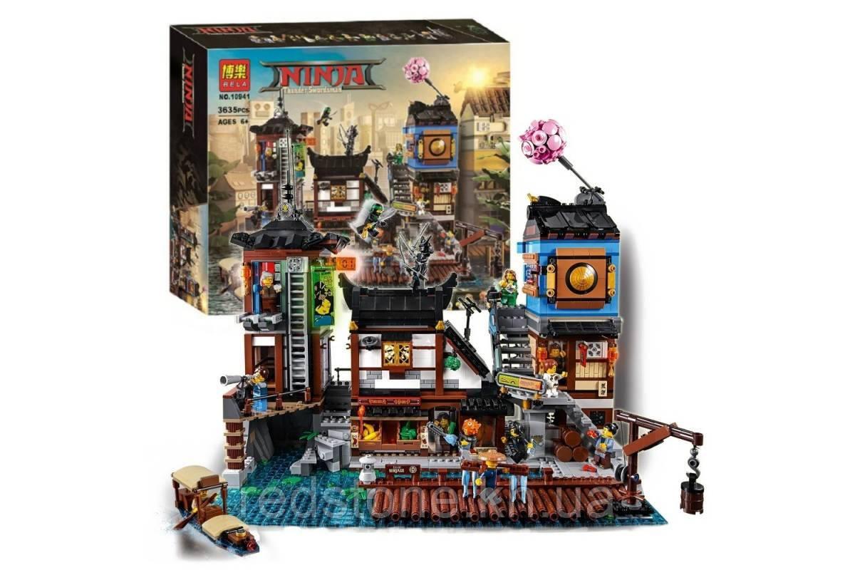 Конструктор Bela Ninja Порт НИНДЗЯГО Сити 10941(LEGO Ninjago 70657) 3635 дет