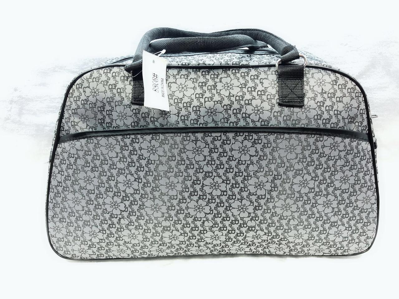 9d6b2fd87f4d Дорожная сумка женская текстильная Серая, цена 270 грн., купить в Одессе —  Prom.ua (ID#821867554)