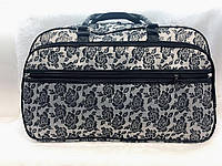 Текстильная сумка дорожная большая женская Серая
