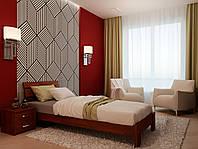 Ліжко односпальне з натурального дерева в спальню/дитячу Лагуна(Бук) 80*190 Неомеблі
