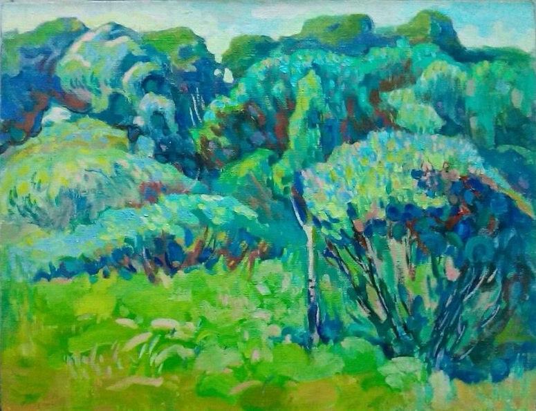 """Картина маслом """"Зеленый день"""", 65х84, холст, масло"""