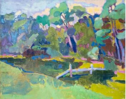 """Картина маслом """"Мой любимый пейзаж"""", 55х69,5 см, холст, масло"""
