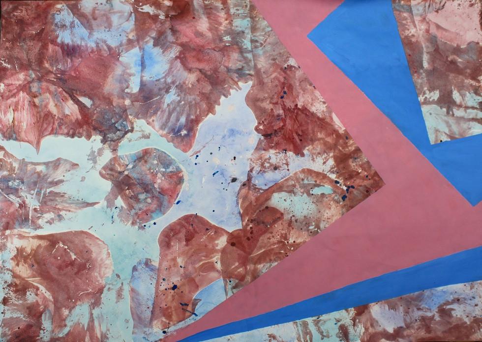 "Картина ""Абстракция №10"", 61х86 см, бумага, смешанная техника"