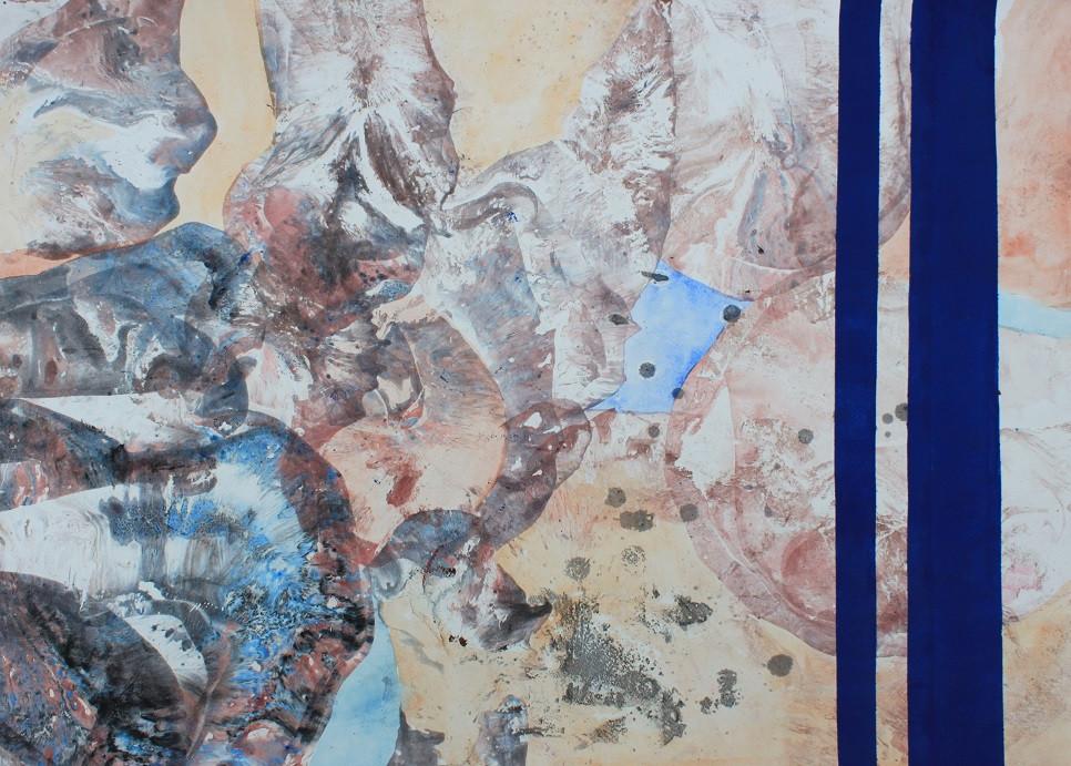 """Картина """"Земля"""", 61х86 см, бумага, смешанная техника"""
