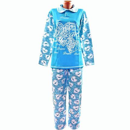 Пижама теплая начесная в сердцах, фото 2