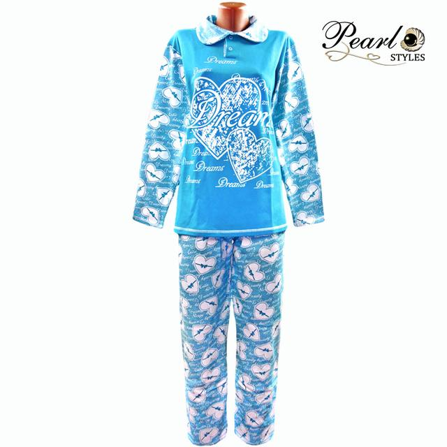 Пижама теплая  женская трикотажная