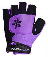 Велорукавички PowerPlay 5284 Фіолетовий S