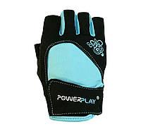 Рукавички для фітнесу PowerPlay 1728 A Блакитний XS