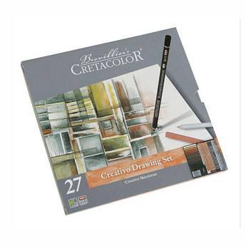 """Набор карандашей для рисунка """"Creativo"""", 27шт., мет. упаковка, Cretacolor"""