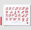 Магнитная доска для изучения английских больших прописных букв от А до Z, 3+ (цвет красный), Kid О