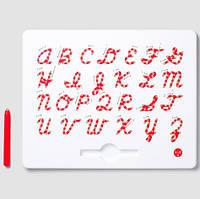 Магнитная доска для изучения английских больших прописных букв от А до Z, 3+ (цвет красный), Kid О, фото 1