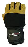 Рукавички для залу PowerPlay 1069 А Чорно-жовті S, фото 1