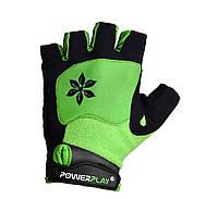 Велорукавички PowerPlay 5284 B Зелений M