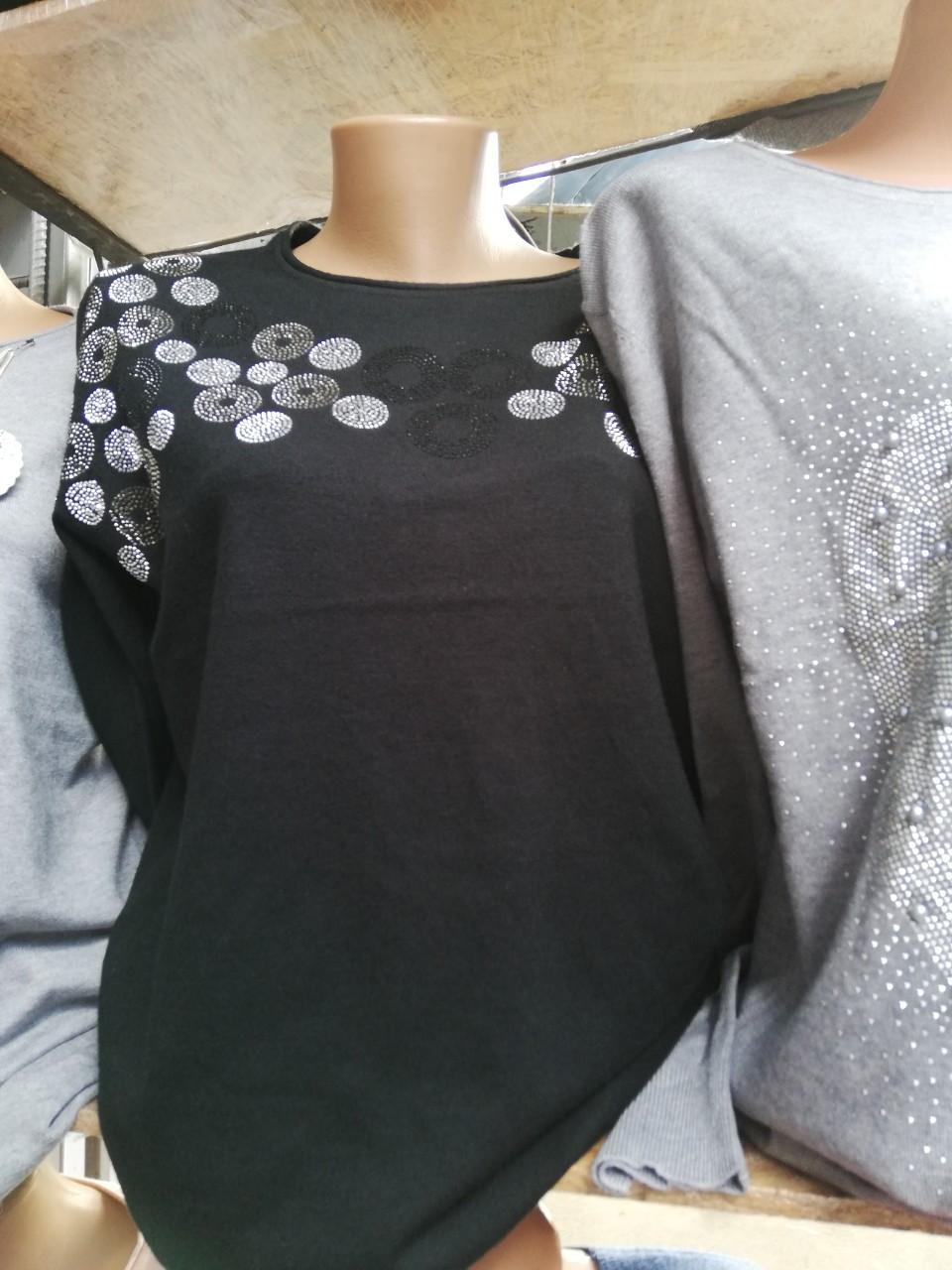 4669ed27bd9112 Женская кофта теплая стильная со стразами → купить по низкой цене в ...