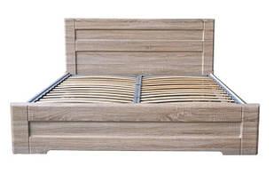 Ліжко двоспальне з ДСП/МДФ в спальню Кармен 160х200 Неман