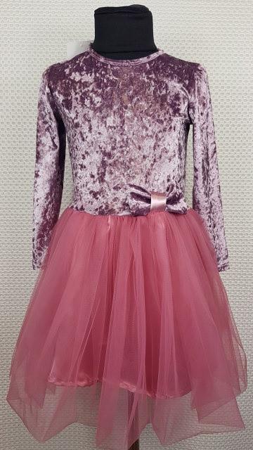 Детское нарядное платье для девочки Милана р.92-110 фрез