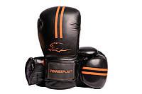 Боксерські рукавиці PowerPlay 3016 Чорно-помаранчеві PU 16 oz, фото 1