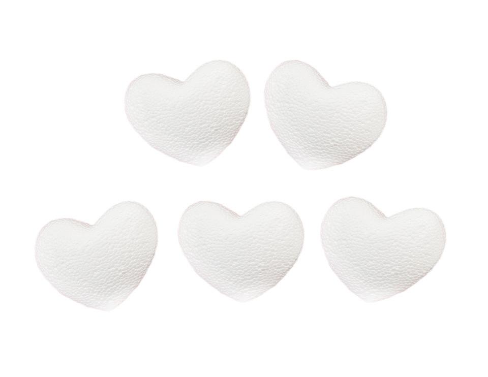 Пенопластовое сердце, 6*3см