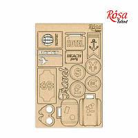 "Чипборд для скрапбукинга ""Make your journey"" 2,  картон, 13х20см, ROSA TALENT"