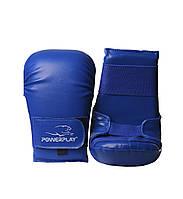 Рукавиці для карате PowerPlay 3027 Сині PU M, фото 1