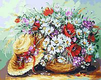 Холст для рисования Ромашки и шляпка (BK-GX4416) 40 х 50 см  [Без коробки]