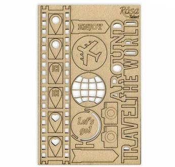 "Чипборд для скрапбукинга ""Make your journey"" 1,  картон, 13х20см, ROSA TALENT"