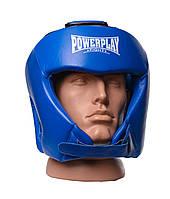 Шолом боксерський турнірний Power Play 3049 Синій [натуральна шкіра] M, фото 1