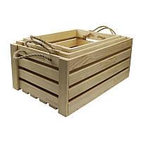 Ящик прямоугольный, 38х27х21см, сосна, ROSA TALENT