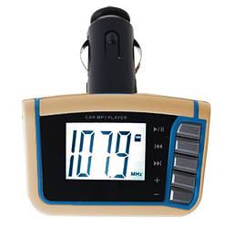 FM-модулятор Bovju FM101 LCD USB MMC MicroSD с пультом д/у Gold