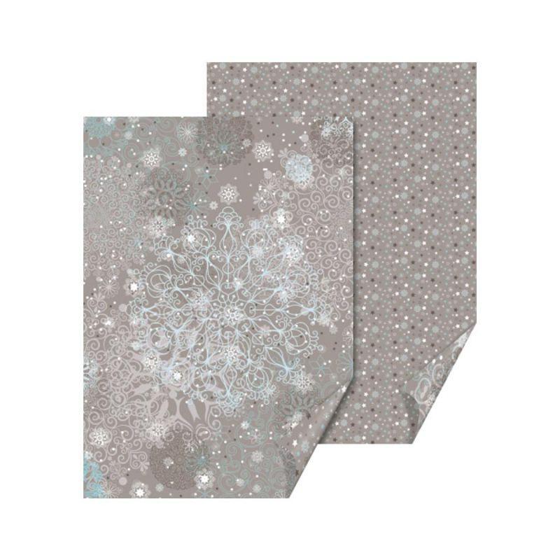 """Бумага с рисунком """"Кристалл"""", А4 (21*29,7 см), двусторонняя, Серая, 300 г/м2, Heyda"""