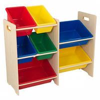 Стеллаж с 7 ящиками для хранения игрушек Кидкрафт, Kidkraft