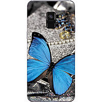 Чехол силиконовый бампер для Samsung A8 Plus Galaxy A730 Бабочки 01