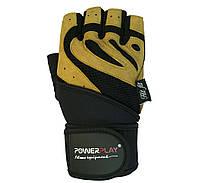Рукавички для залу PowerPlay 1063 B Чорно-жовті, фото 1