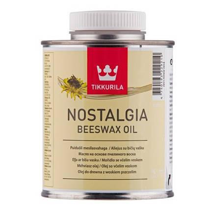 Масло для дерева на основе пчелиного воска Ностальгия (Nostalgia Beeswax), Тиккурила (Tikkurila), 0,375л, фото 2