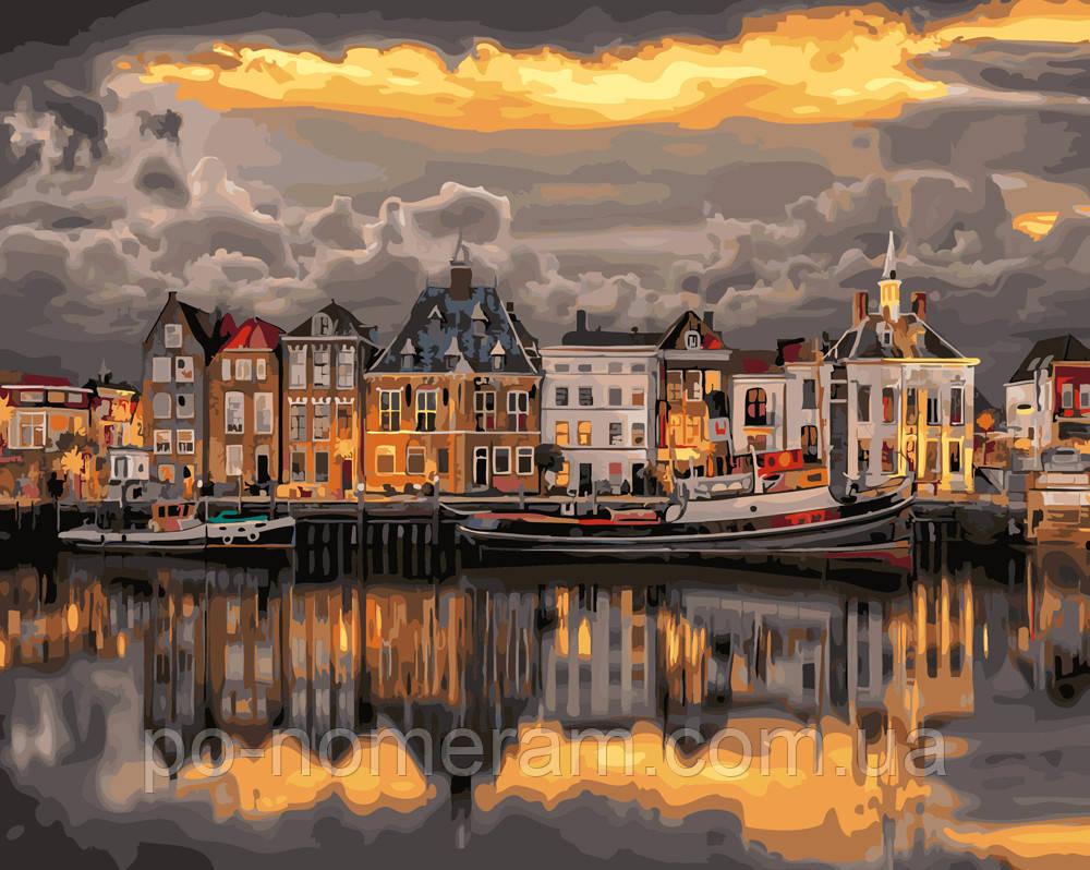 Раскраска для взрослых Закат над Роттердамом (BRM24413) 40 ...